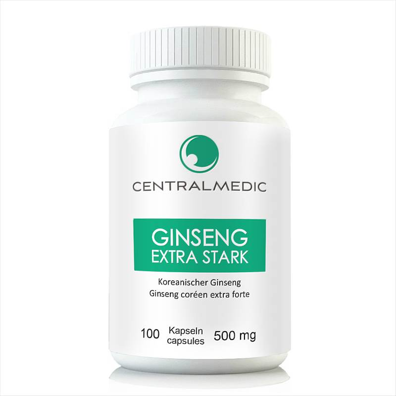 Ginseng Extra Forte, 100 Capsules à 500 mg